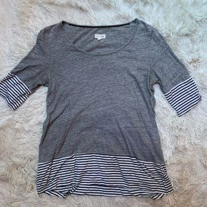 Maison Jules 3/4 Striped Blouse